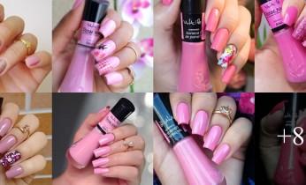 Unhas Bonitas em cor de rosa