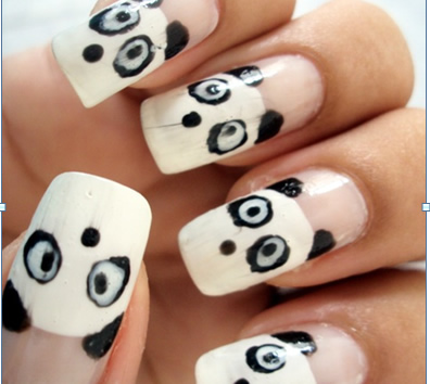 unhas bonitas com pandas
