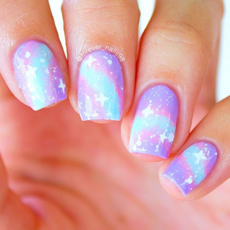 Gallery of Inspiration Galaxy Nails
