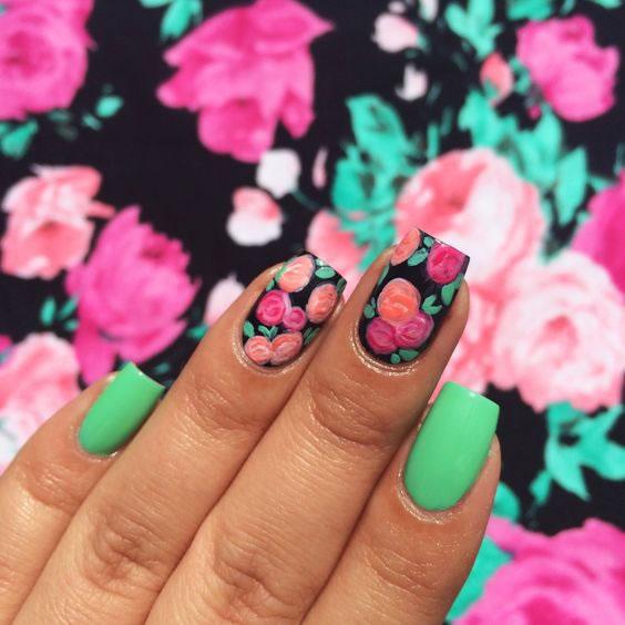 Inspiração – unhas verdes