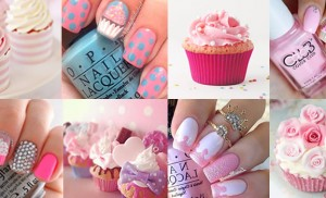 Unhas das leitoras – cupcakes