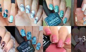 Inspiração - marble nails