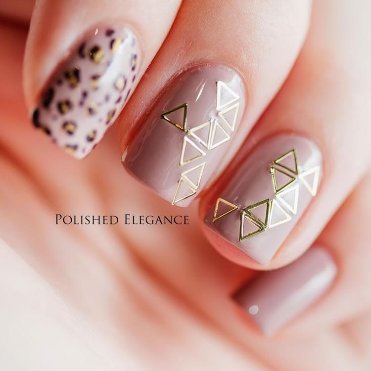 Inspiração - unhas com triângulos