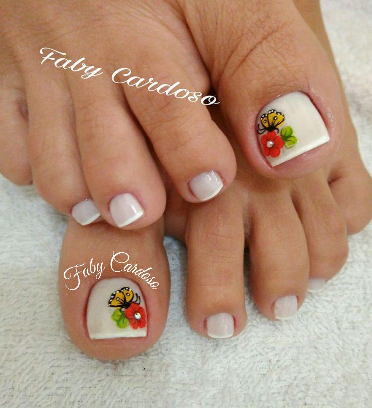unhas decoradas Para pés