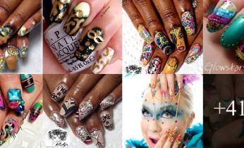 Decoração de unhas para o carnaval
