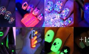 Unhas neon