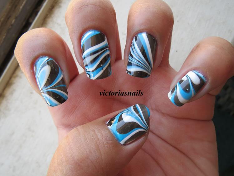 Water Marble Nails - Como fazer