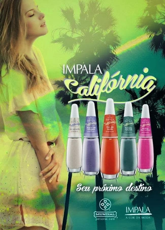 esmaltes impala california cartaz Nova Coleção da Impala   Califórnia