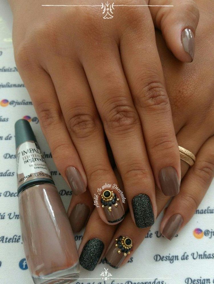 42 fotos de unhas decoradas com glitter, super inspiração