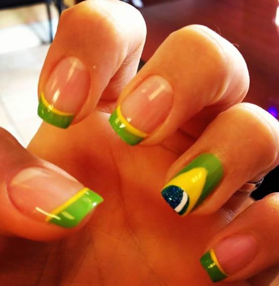 Como pintar as unhas com bandeira do brasil – Copa 2016