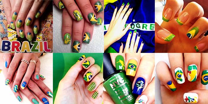 Como pintar as unhas com bandeira do brasil – Copa 2014