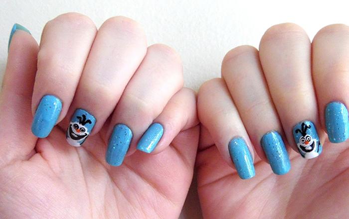 Olaf do Filme Frozen nail art