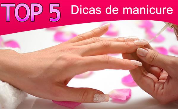 dicas de manicure