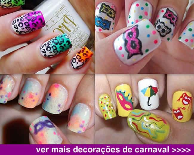 decorações unhas carnaval