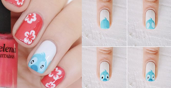 unhas decoradas lilo stitch