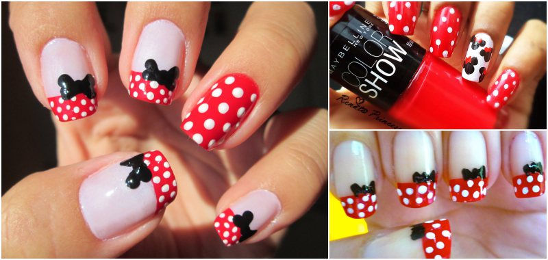 minnie unhas decoradas