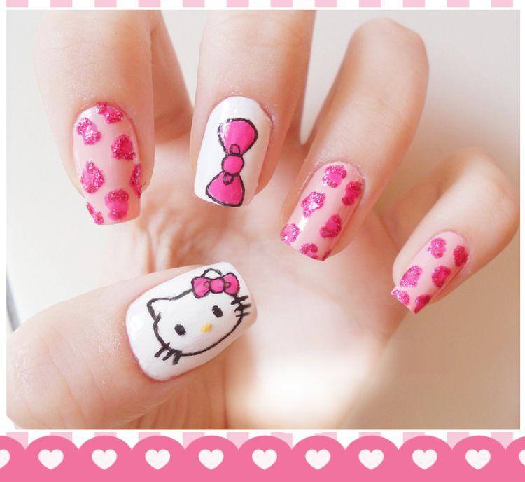 Как сделать рисунок на ногтях ребенку 784