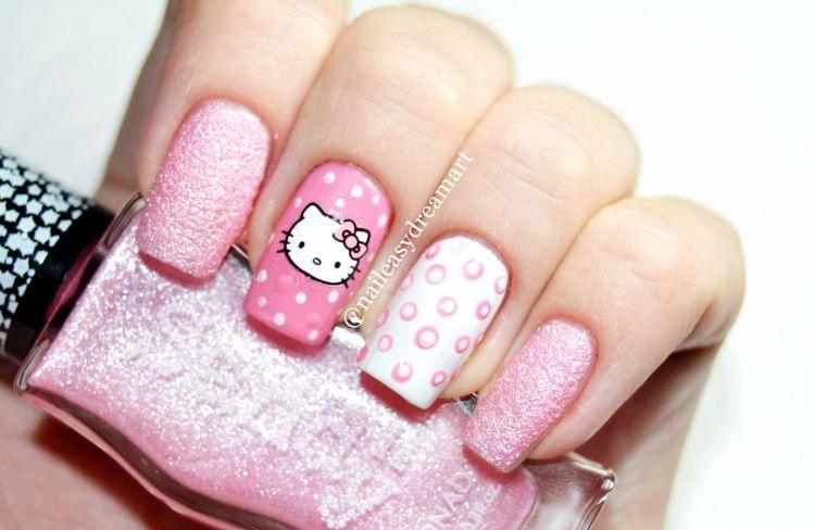 Unhas decoradas da Hello Kitty – passo a passo6