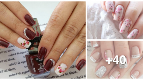 Como fazer unhas decoradas com rosas cover