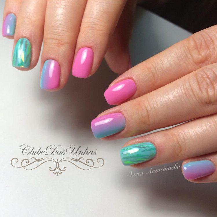 Unhas Decoradas Bicolores