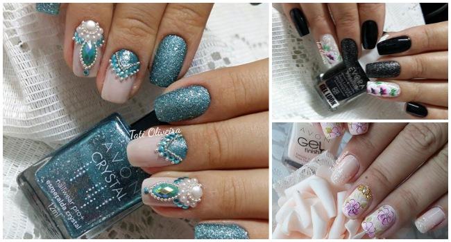 19 Melhores modelos de unhas decoradas com glitter