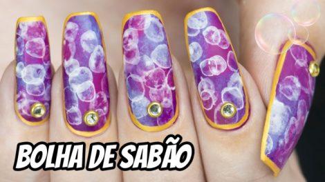 EFEITO BOLHA DE SABÃO | BOKEH NAIL EFFECT