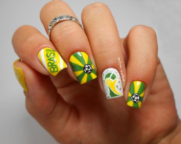 20 Ideias de fotos de unhas para a Copa2
