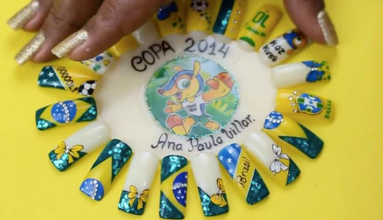 49 melhores ideias de unhas decoradas para a copa, vai brasil! 201844