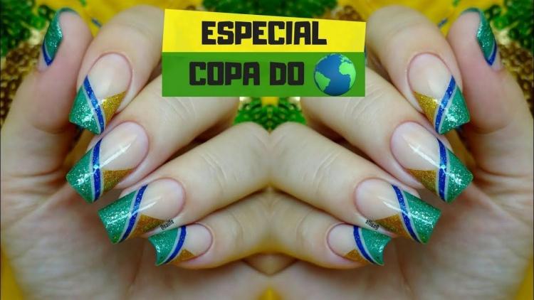49 melhores ideias de unhas decoradas para a copa, vai brasil! 201815