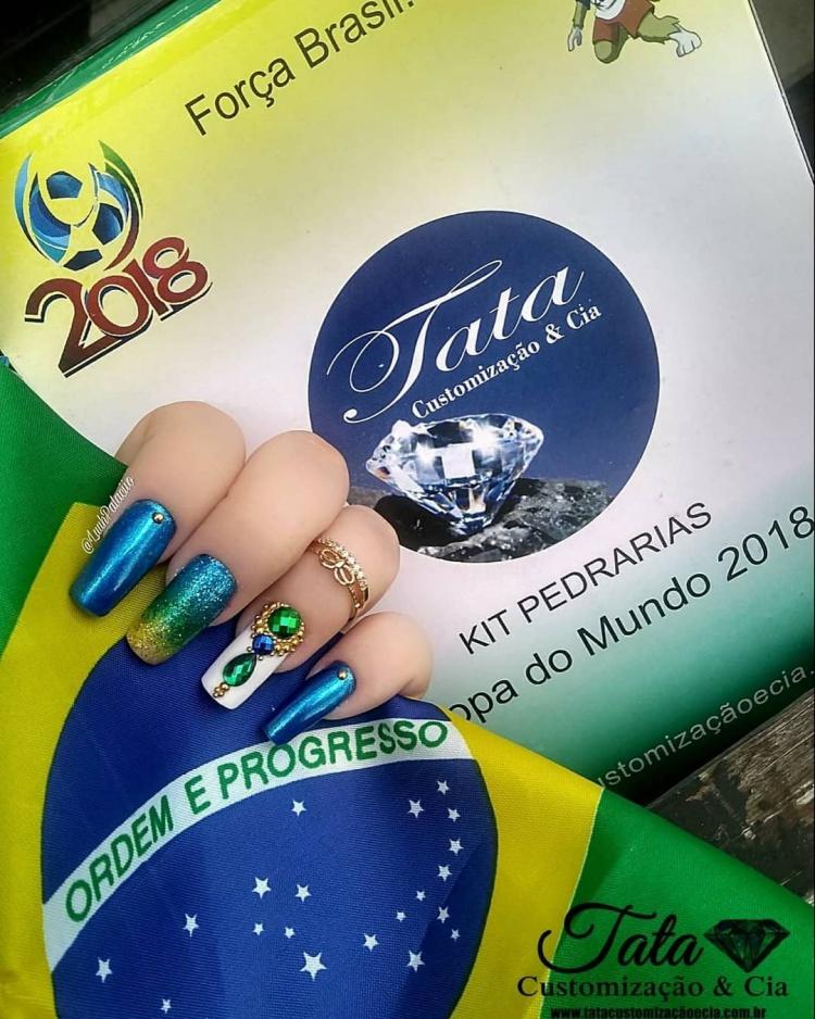 49 melhores ideias de unhas decoradas para a copa, vai brasil! 2018