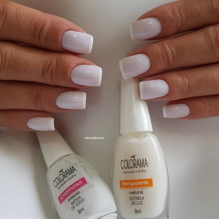 Combinações para unhas francesinhas, veja os esmaltes usados pelas manicures10