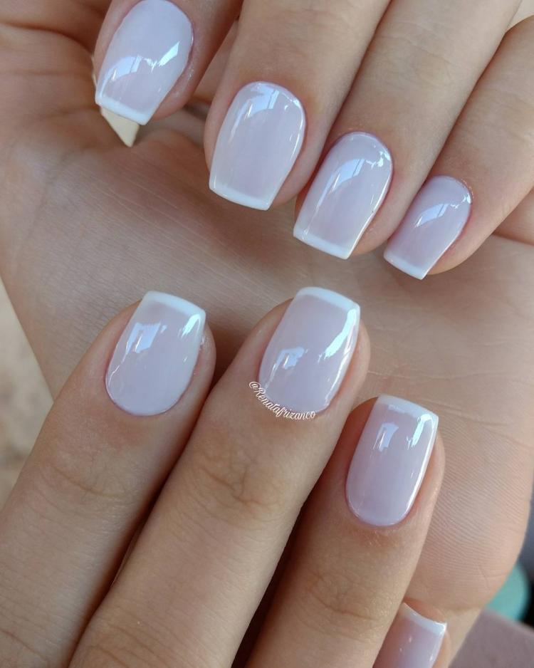 Combinações para unhas francesinhas, veja os esmaltes usados pelas manicures18