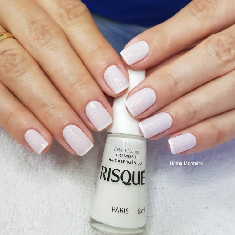 Combinações para unhas francesinhas, veja os esmaltes usados pelas manicures8
