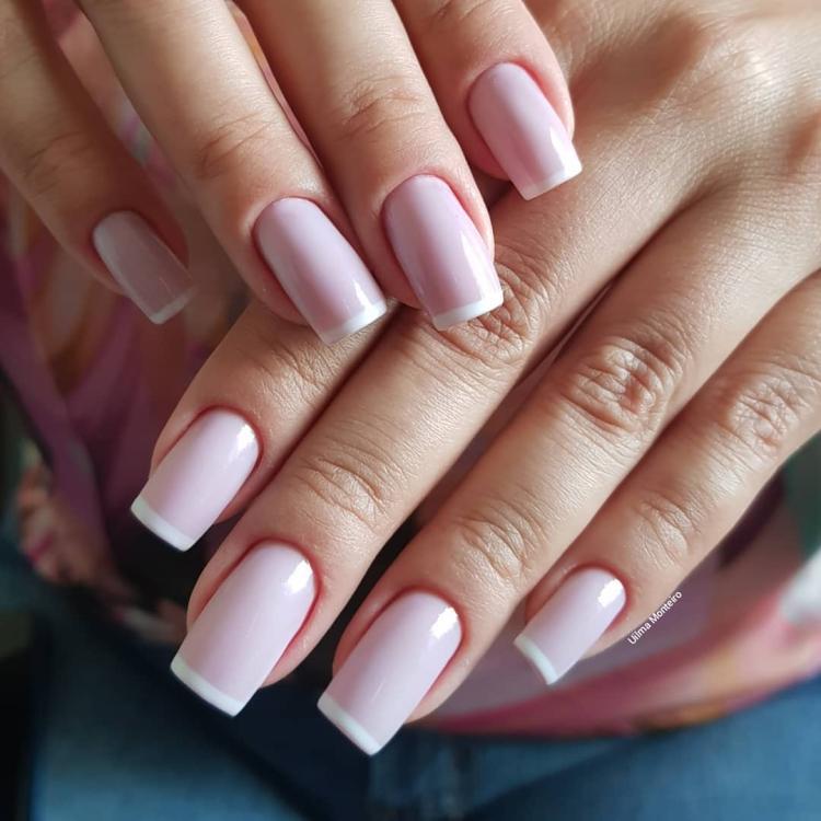 Combinações para unhas francesinhas, veja os esmaltes usados pelas manicures9