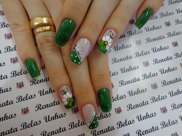 Melhores modelos unhas esmaltadas em verde, um arraso!