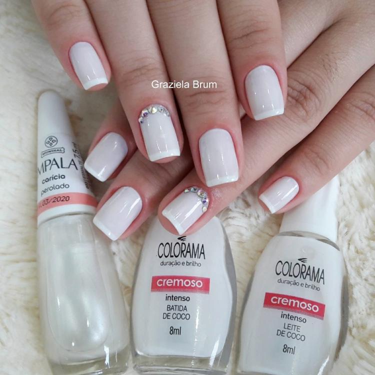 19 Combinações de unhas com esmalte branco10
