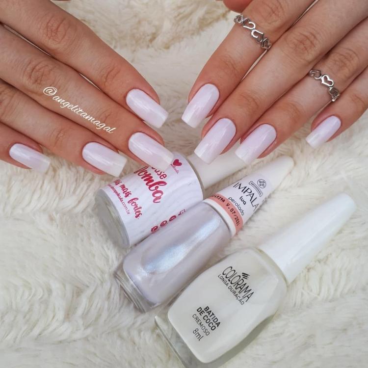 19 Combinações de unhas com esmalte branco11