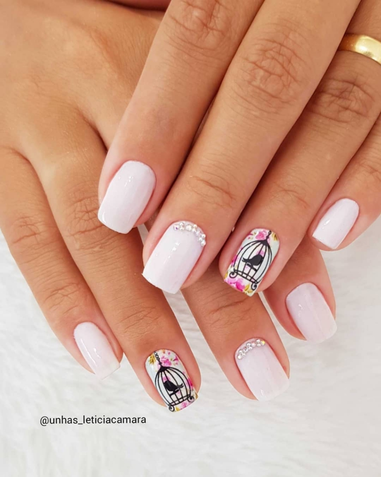 19 Combinações de unhas com esmalte branco12