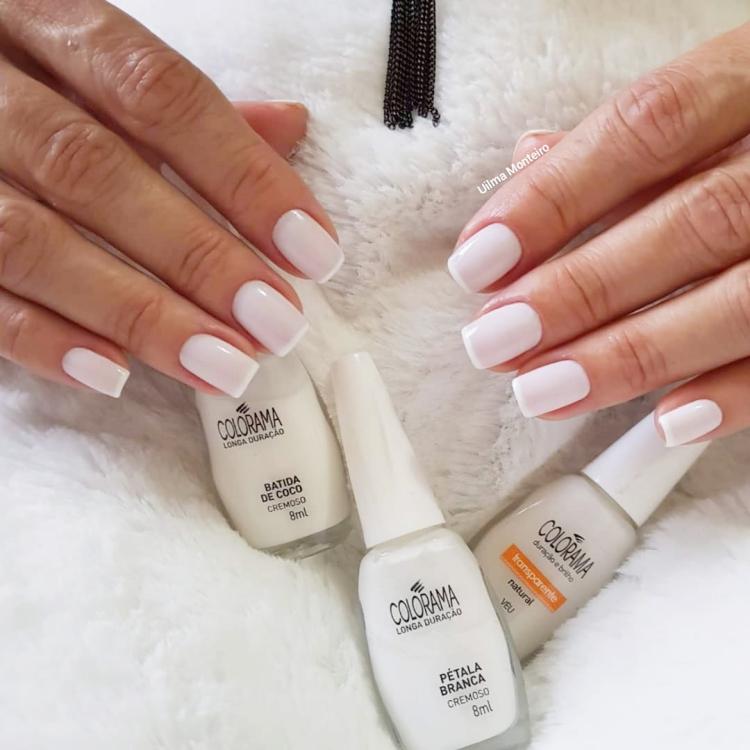 19 Combinações de unhas com esmalte branco
