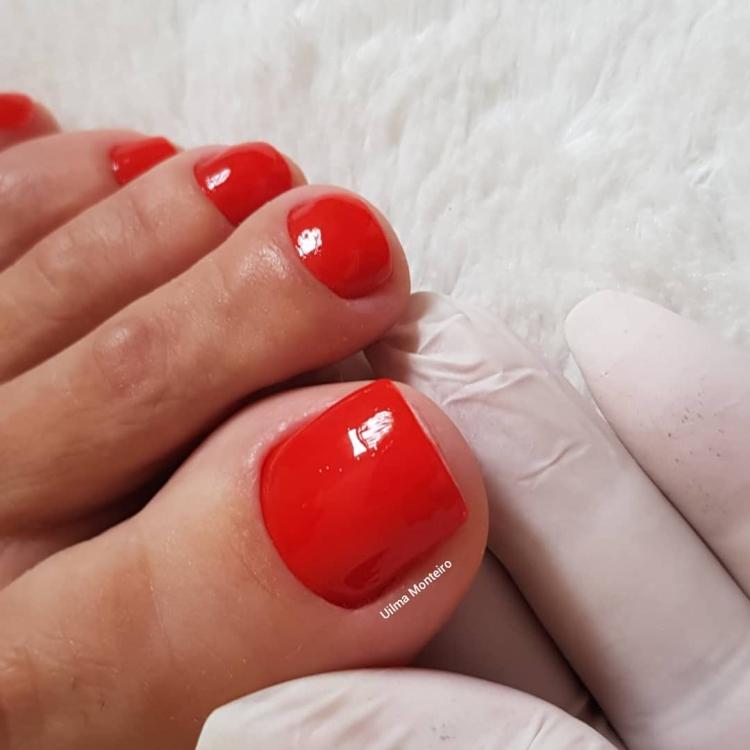 Melhores modelos de unhas dos pés que toda a manicure deveria saber decorar14