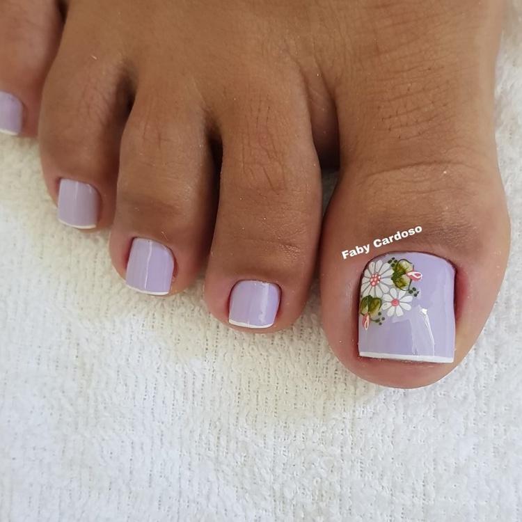 Ideias de Unhas dos pés com decorações