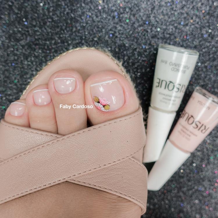 18 ideias de decorações de unhas para os pés, veja as melhores