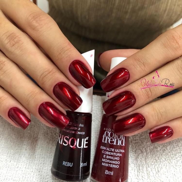 Combinação de unhas vermelhas, melhores esmaltes vermelhos do ano
