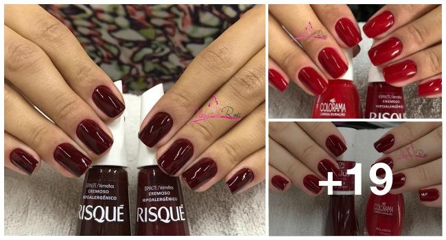 Combinações com esmaltes vermelhos1