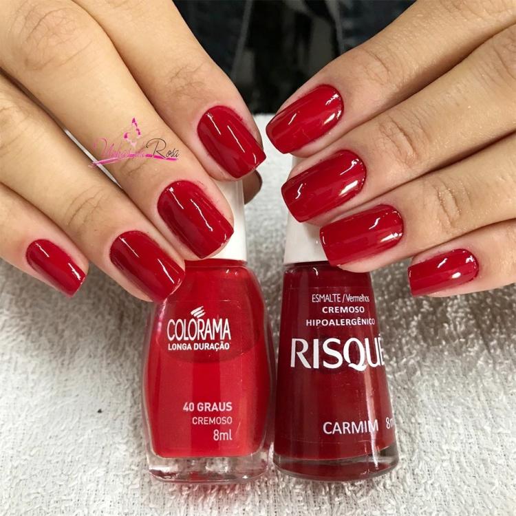 Combinações com esmaltes vermelhos