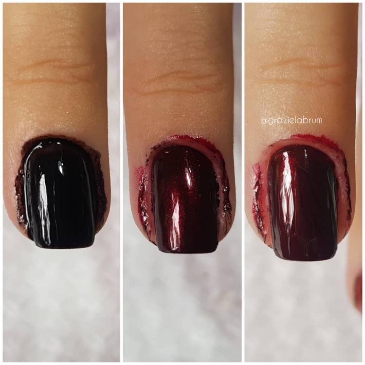 Combinaçoes com esmaltes vermelhos
