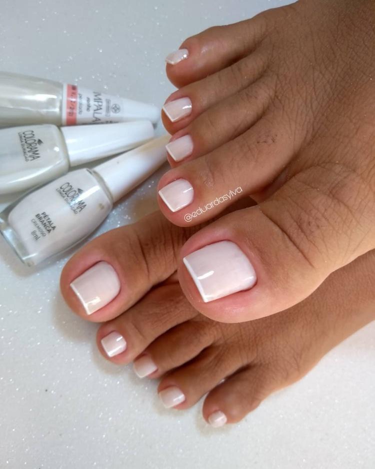 combinações de esmaltes brancos
