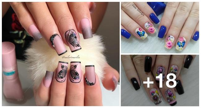 18 Decorações de unhas com borboletas, quem gosta2