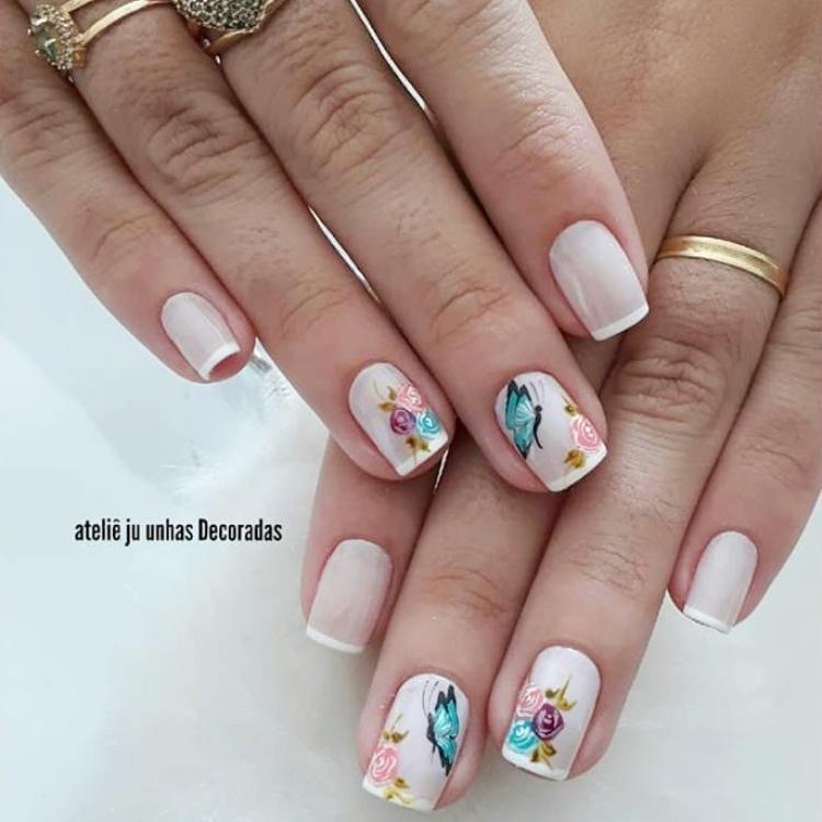 unhas com borboletas14