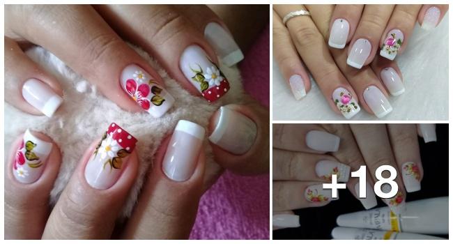 18 Fotos de unhas francesinhas lindas para inspirar sua manicure